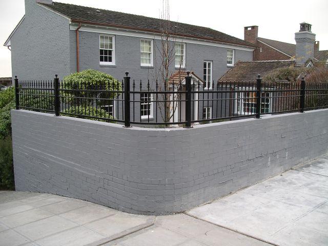 2 Half Wall Fence